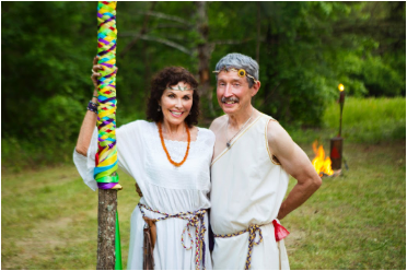 Lady Magdalena and Lord Mryddin at Beltane on MoonRock Mountain